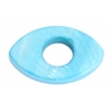 Shell Oval With Center Hole 15x25mm Turquoise